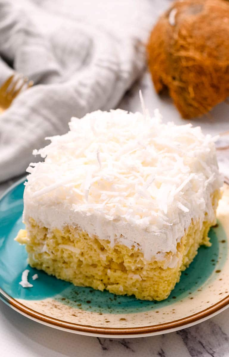 The EASIEST Coconut Cream Cake – Made From A Box Mix