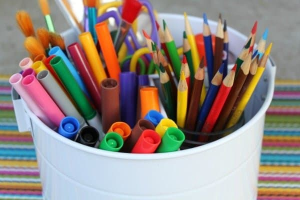 Create an art caddy with all those extra school supplies