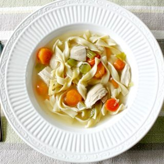 Try this Homemade Chicken Noodle Soup the next time your family is feeling under the weather or if you just need a comforting meal to get you through the rest of the Winter blahs!