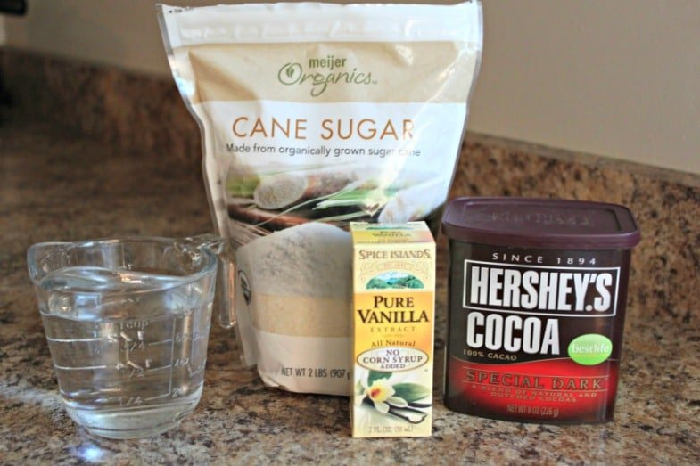 homemade chocolate syrup ingredients
