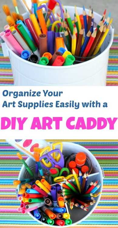 Organize your art supplies easily with this DIY Art Caddy!