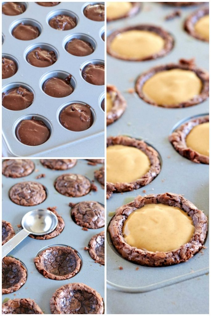 Peanut Butter Cup Brownie steps