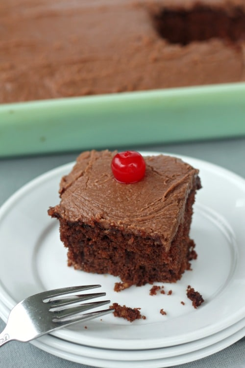 This Old Fashioned Dr. Pepper Cherry Cake will take you back!
