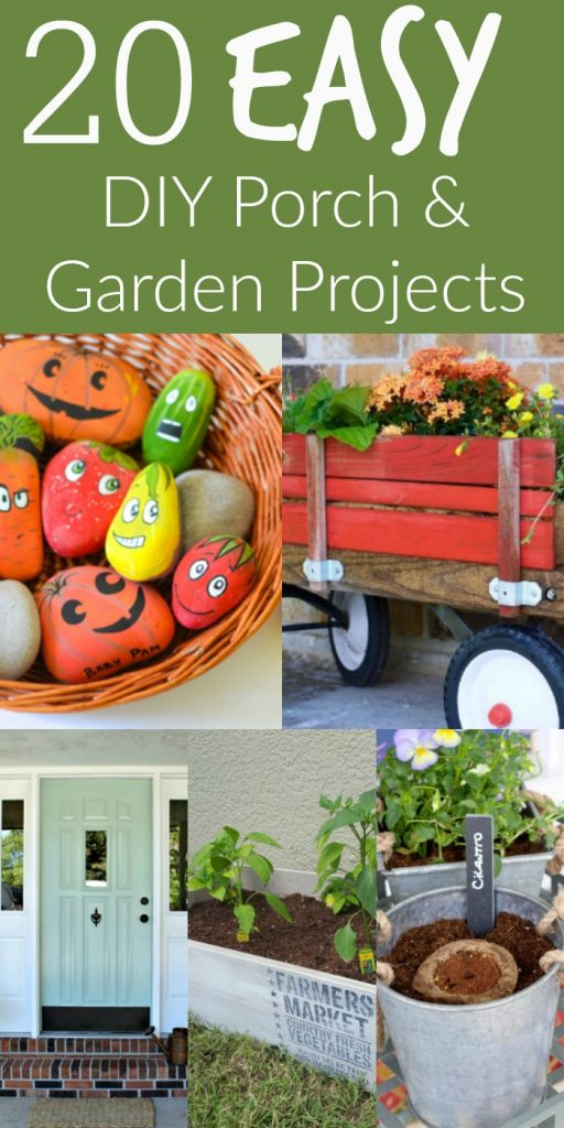 If you're looking for easy, inexpensive DIY porch and garden projects for the summer, you've come to the right place!