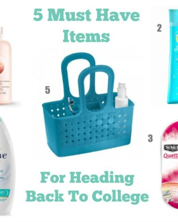 5 Must-Have Bath Items For Heading Back to College