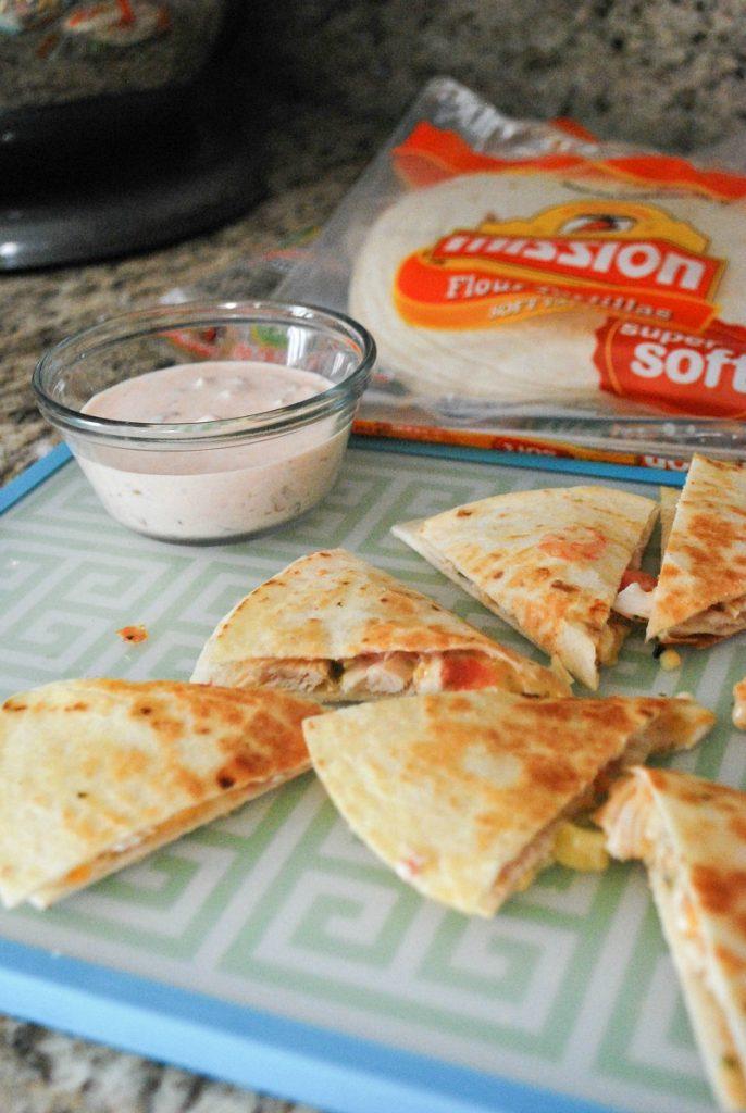 Mission Super Soft Tortillas - Spicy Chicken Quesadillas