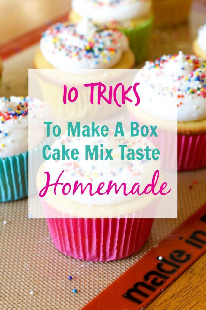 10 Tricks to Make A Box Cake Mix Taste Like Homemade