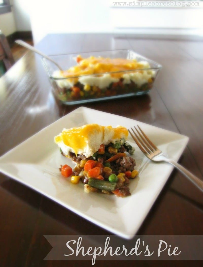 Simple Shepherds Pie should be on your next dinner table! It's easy and delicious!