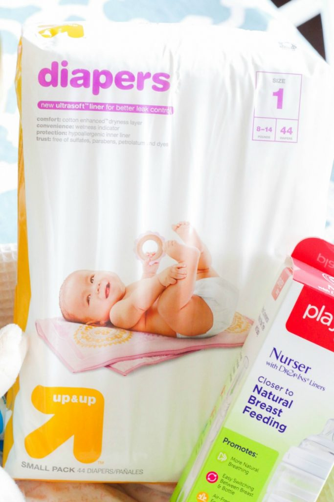 Fill a cute basket full of diaper essentials for the mom to be for a better beginning with these 5 MUST HAVE Baby Shower Gifts!
