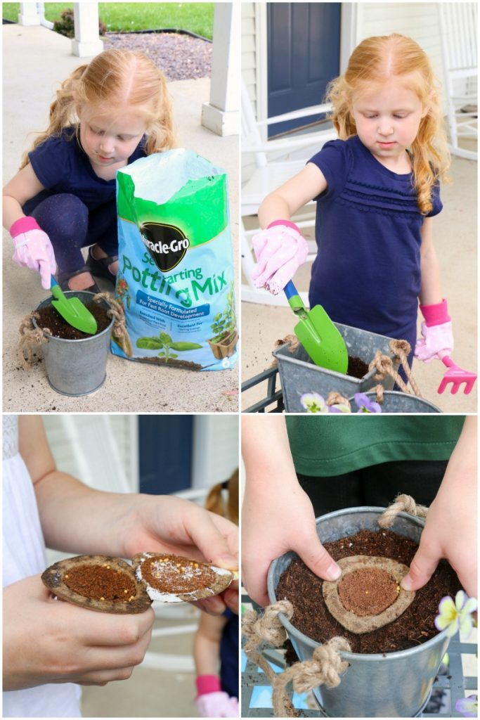 How to Create An Easy Herb Garden with Kids and Miracle Gro Gro-Ables!