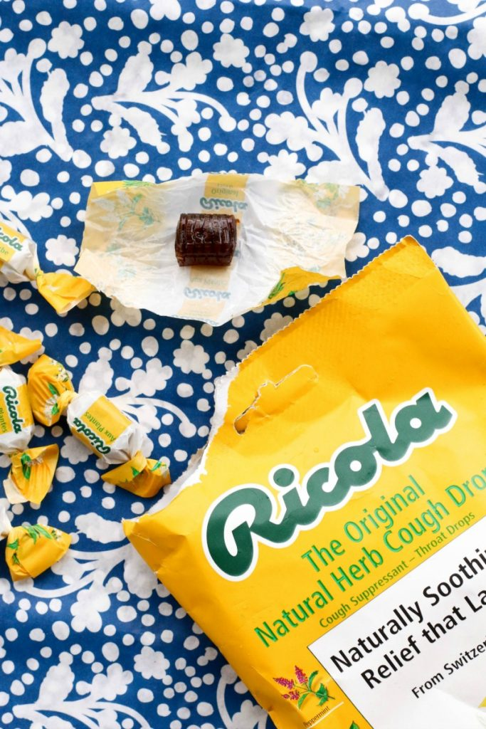 If you suffer from an irritating cough or scratchy throat during the allergy season, there's an easy way to get an extra drop of soothing relief. Just pop a natural Ricola herb drop. And drop it!