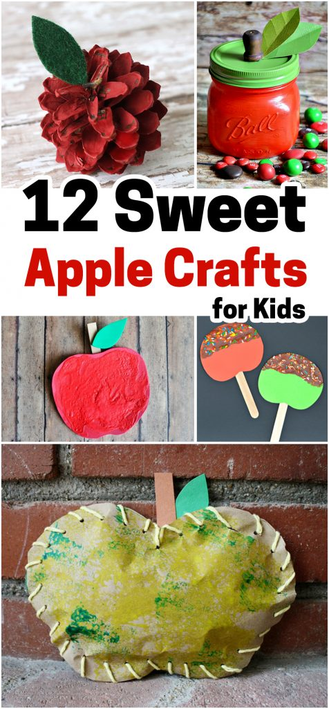 Apple crafts that are perfect for fun fall crafts.