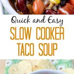If you're looking for an easy, affordable and quick meal on a cold night that packs a big flavor punch – this Slow Cooker Taco Soup Recipe is a winner!