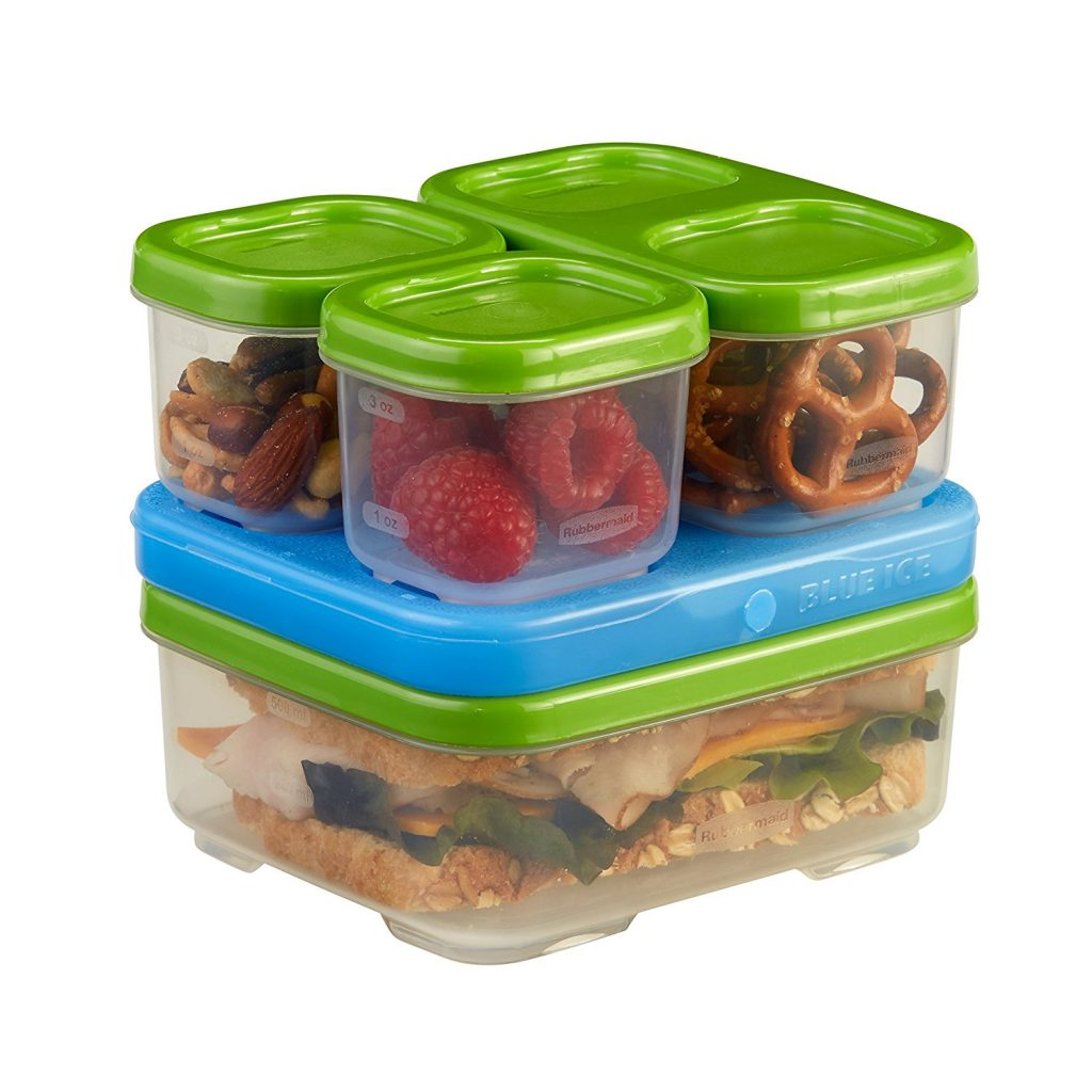 Stackable storage containers with kids
