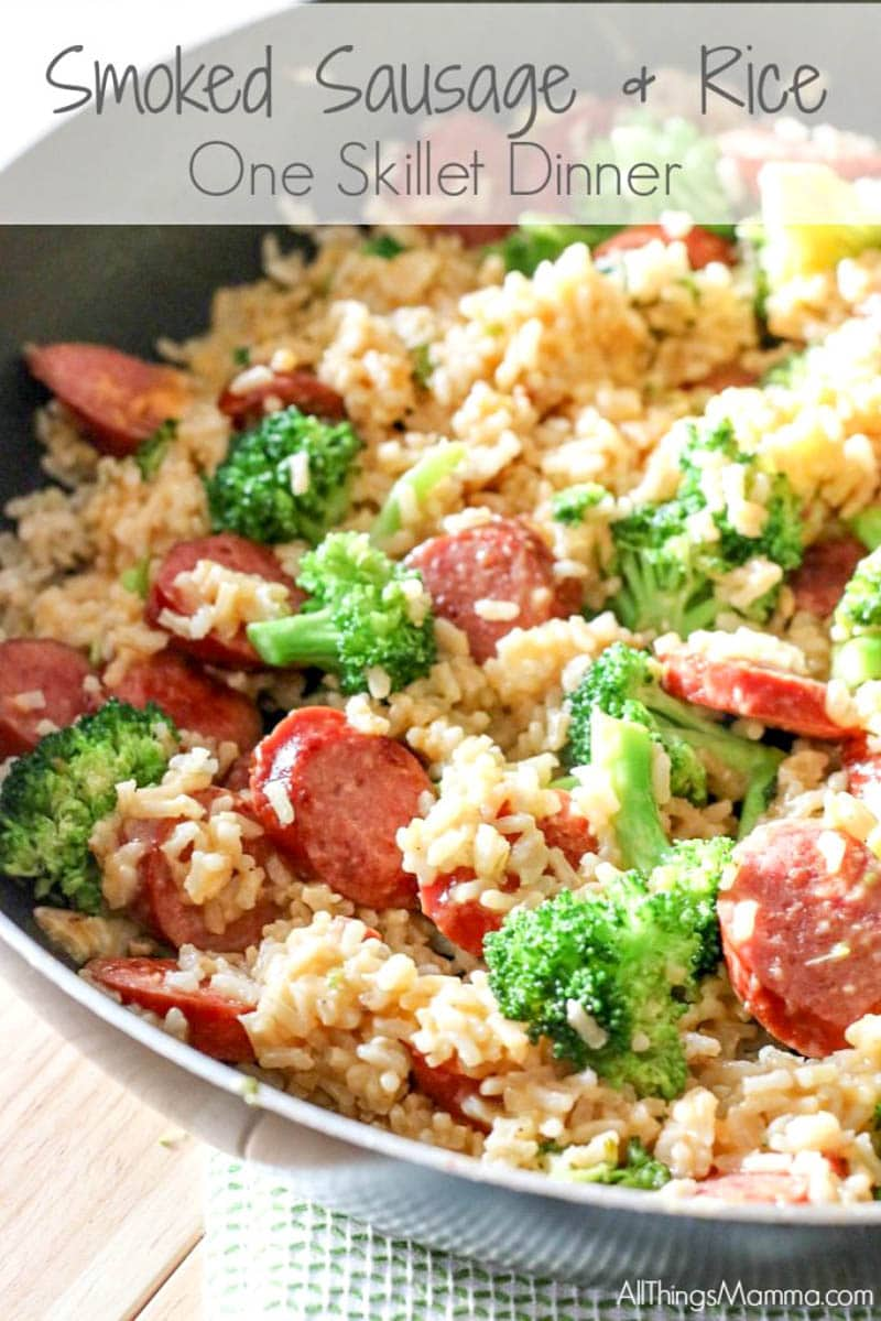 sausage recipe with smoked sausage and rice