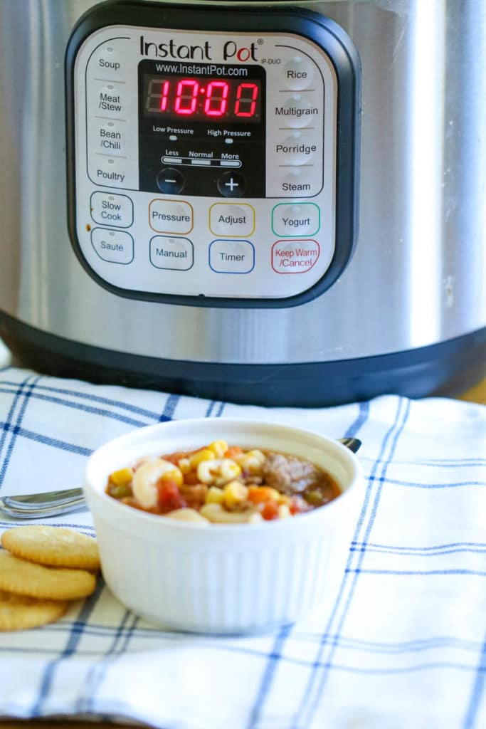 vegetable Soup recipe in the instant pot