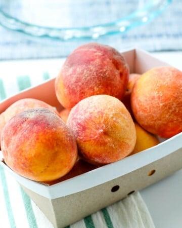fresh peaches for classic peach cobbler