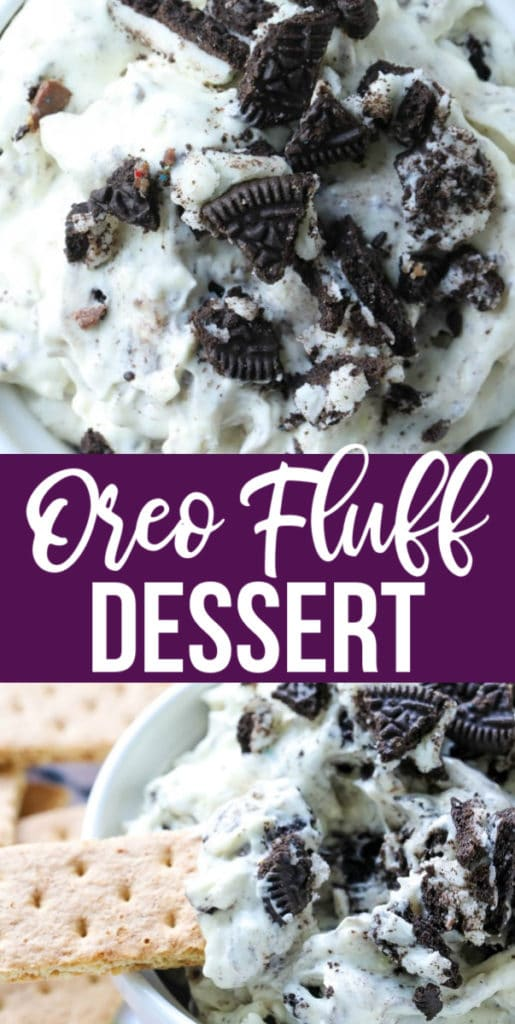 This Oreo Fluff Dessert is a super simple no-bake dessert that is creamy and delicious with just the right amount of sweetness to tame that sweet tooth of yours with only 5 simple ingredients!#oreodessert #nobakeoreodessert #nobakedessert #dessert #chocolate #oreos   allthingsmamma.com