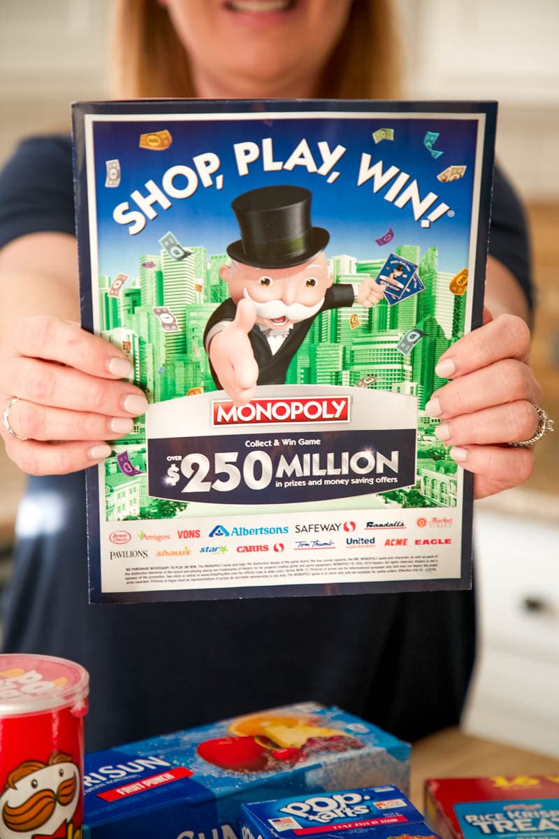 shop, play, win gameboard