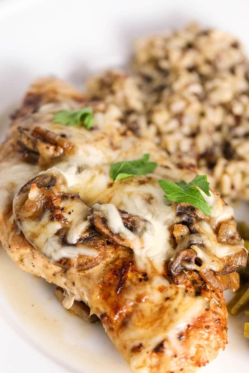 cheesy chicken with mushrooms