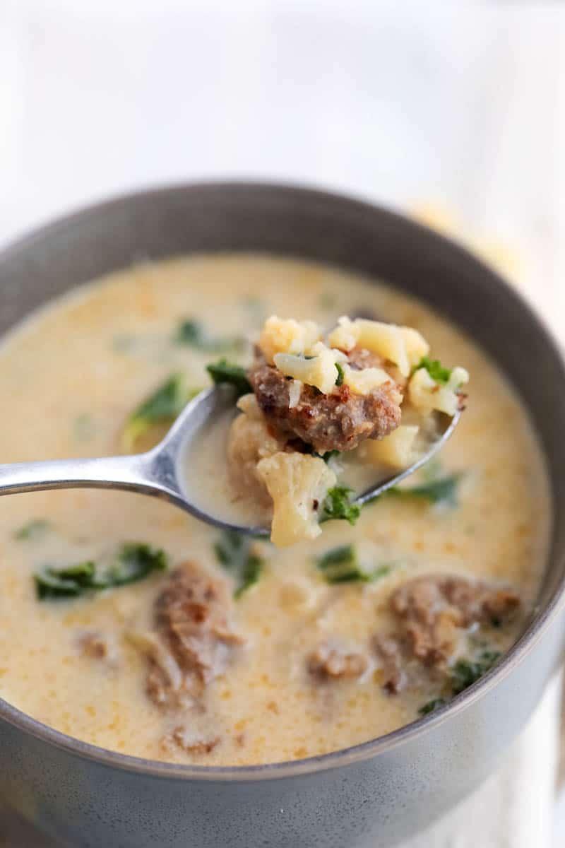 low carb zuppa toscana soup