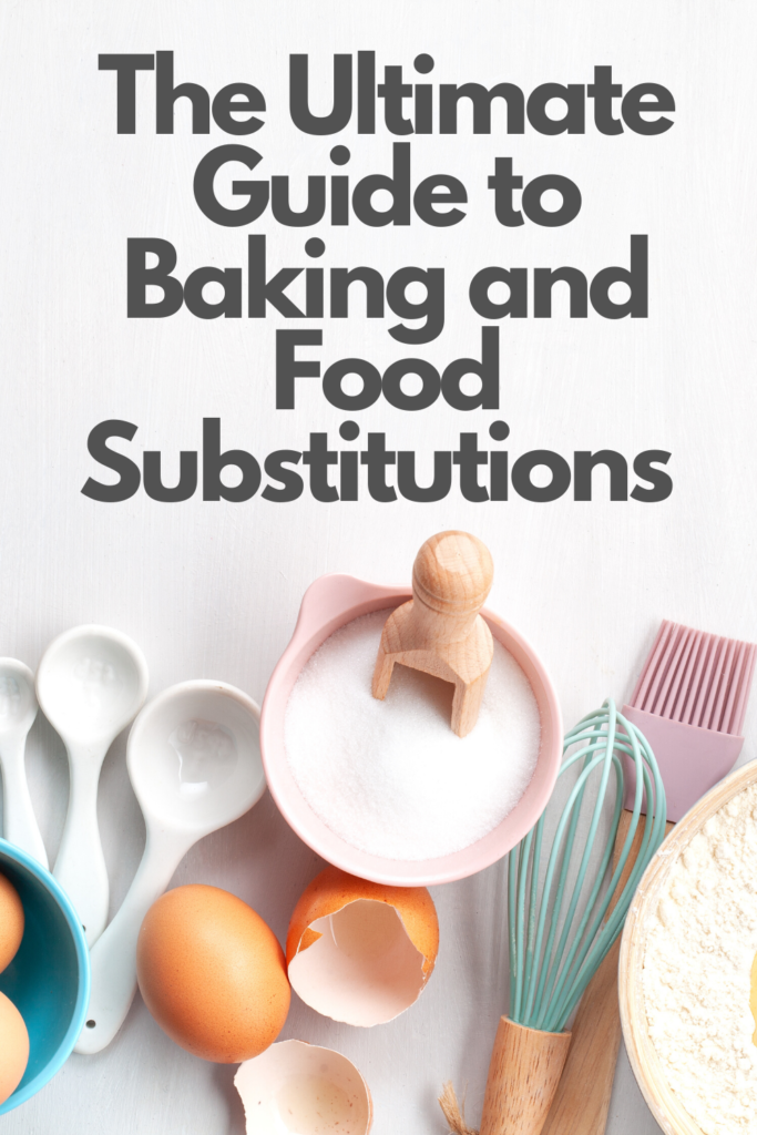 Short on eggs or butter? No need to run out to the store - use one of these handy baking or food substitutions to replace missing items in your recipes!