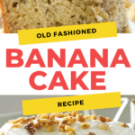 Homemade Old FashionedBanana Cake with Cream Cheese Frosting