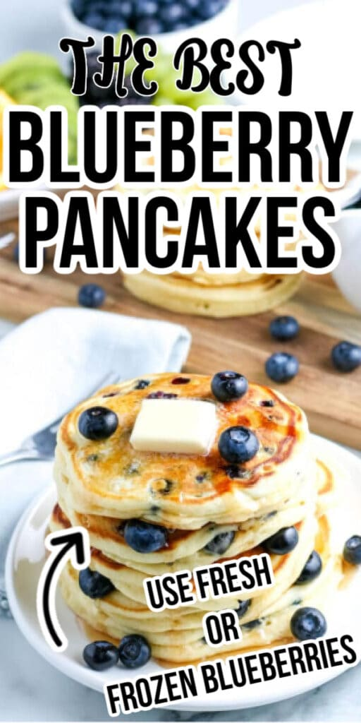 RECIPE FOR THE BEST BLUEBERRY PANCAKES