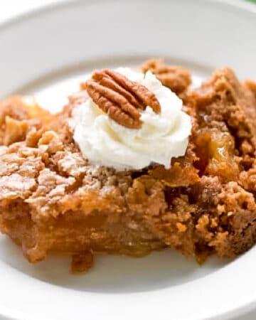 Apple Dump Cake is a simple apple dessert recipe.