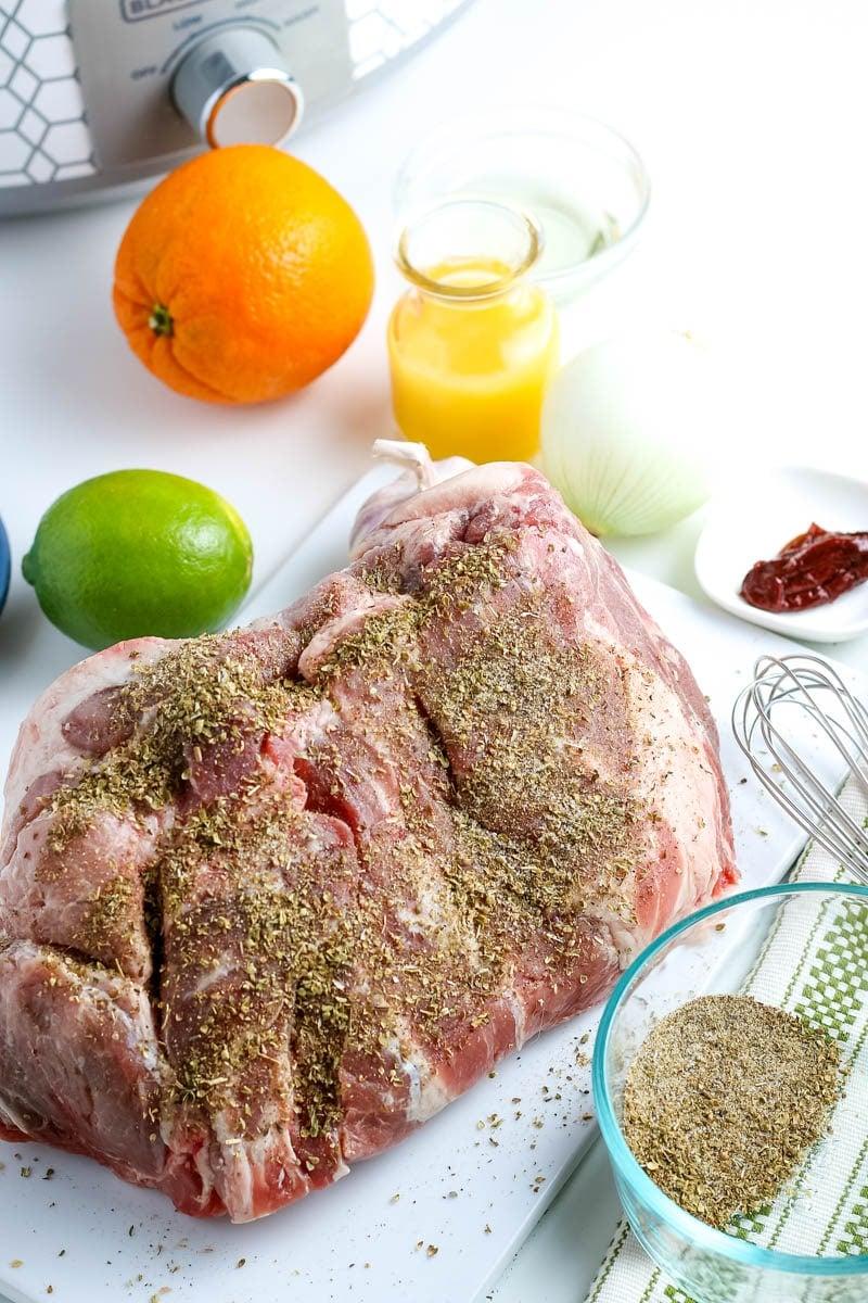 pork carnitas ingredients for the slow cooker