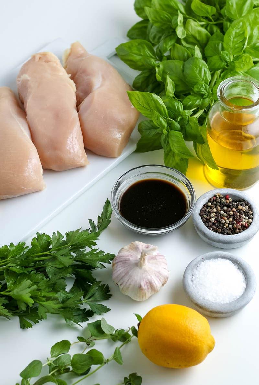 Ingredients to make air fryer chicken breast