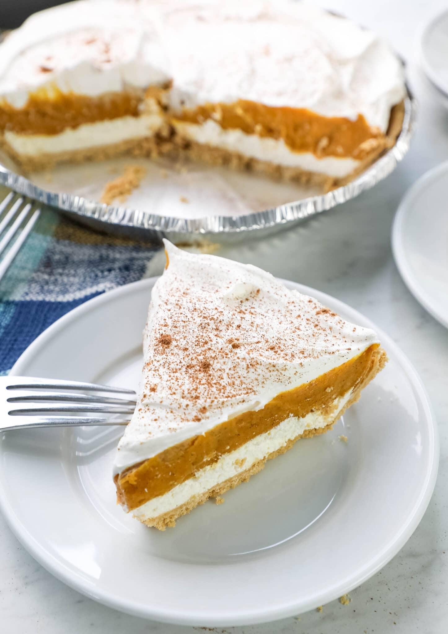 no bake pumpkin pie with cream cheese