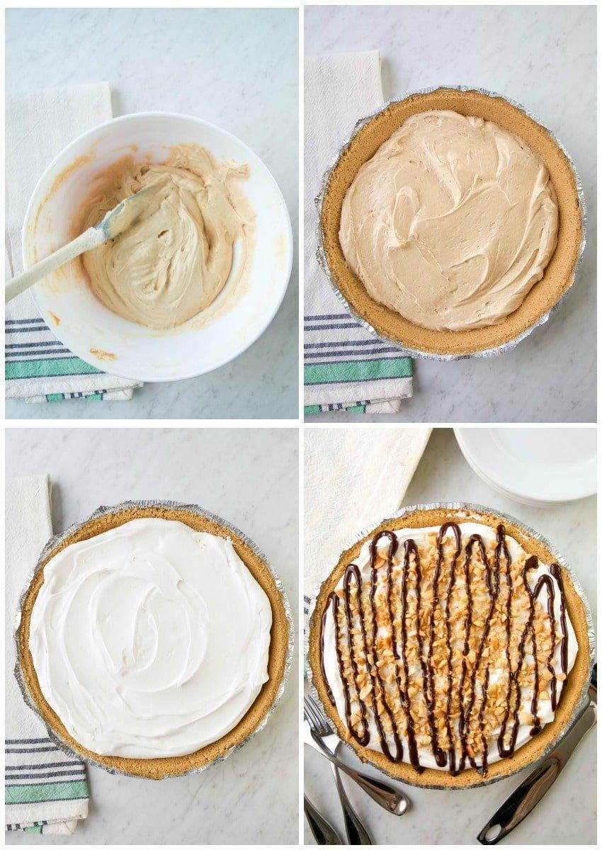 no bake pumpkin pie steps