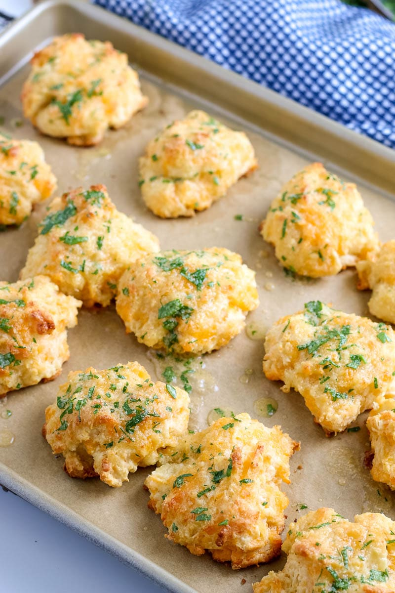 biscuits on a baking sheet