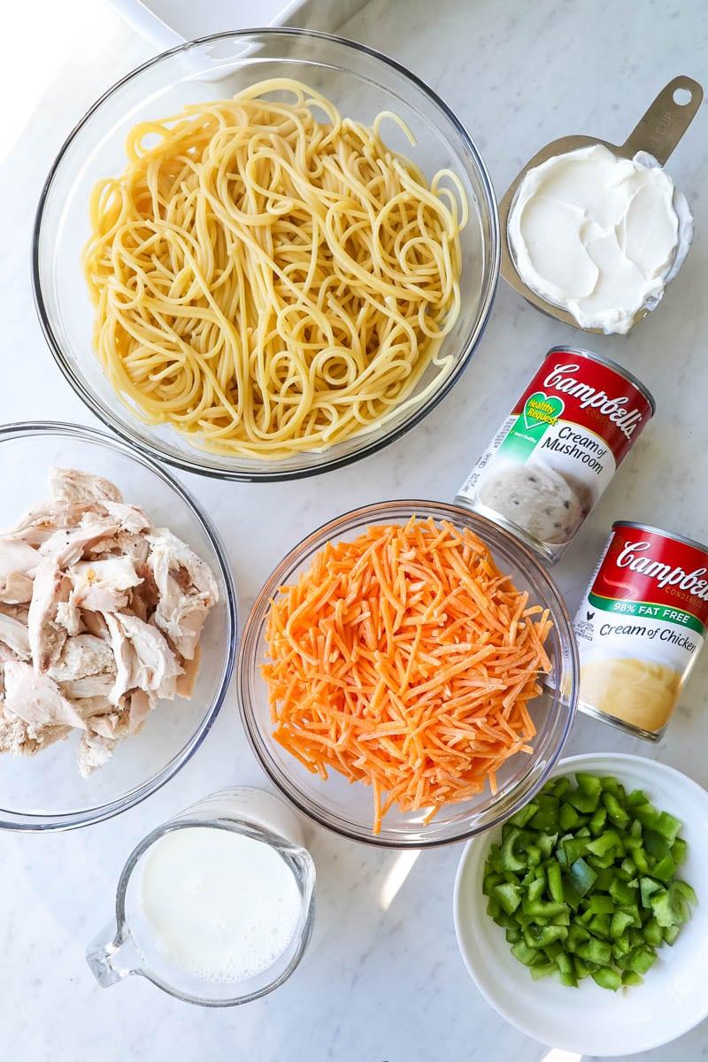ingredients needed to make turkey tetrazzini