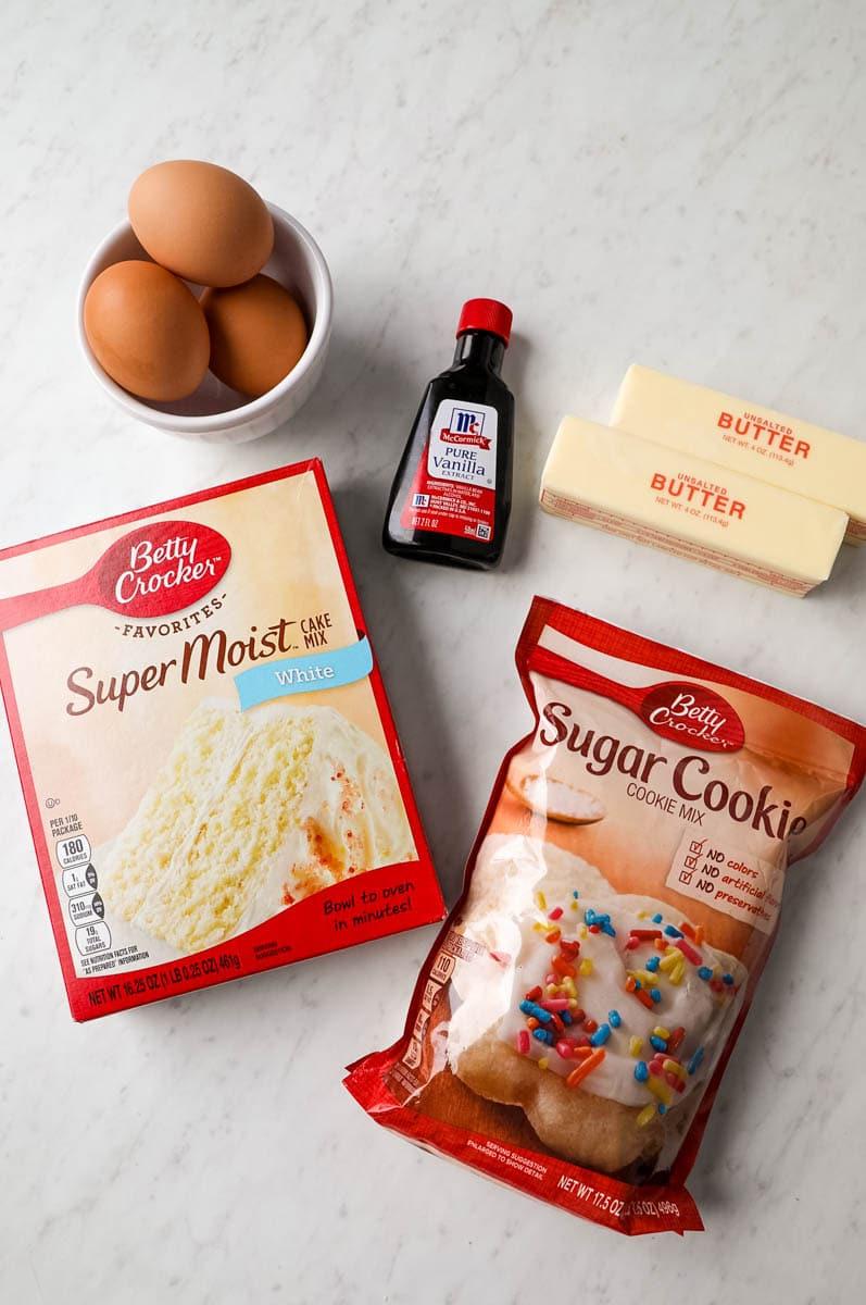 sugar cookie bar ingredients