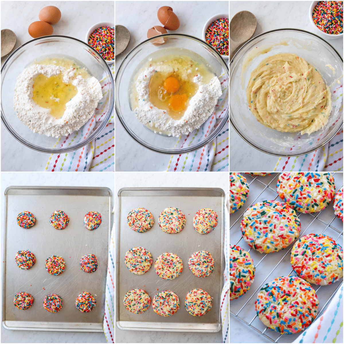 cake mix cookie steps