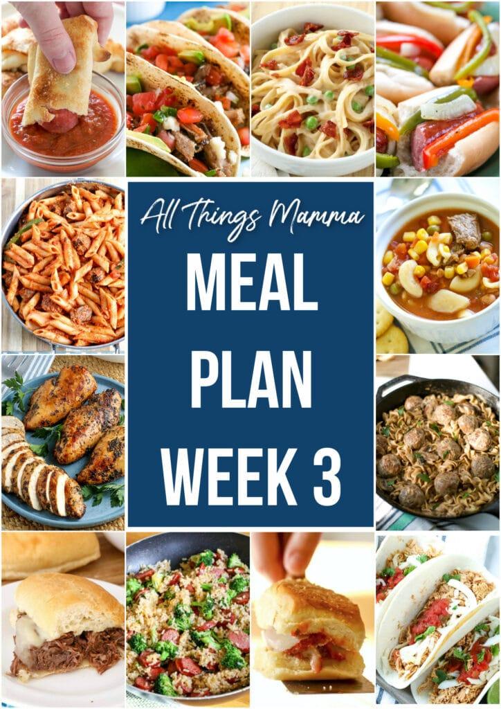 meal plan week 3