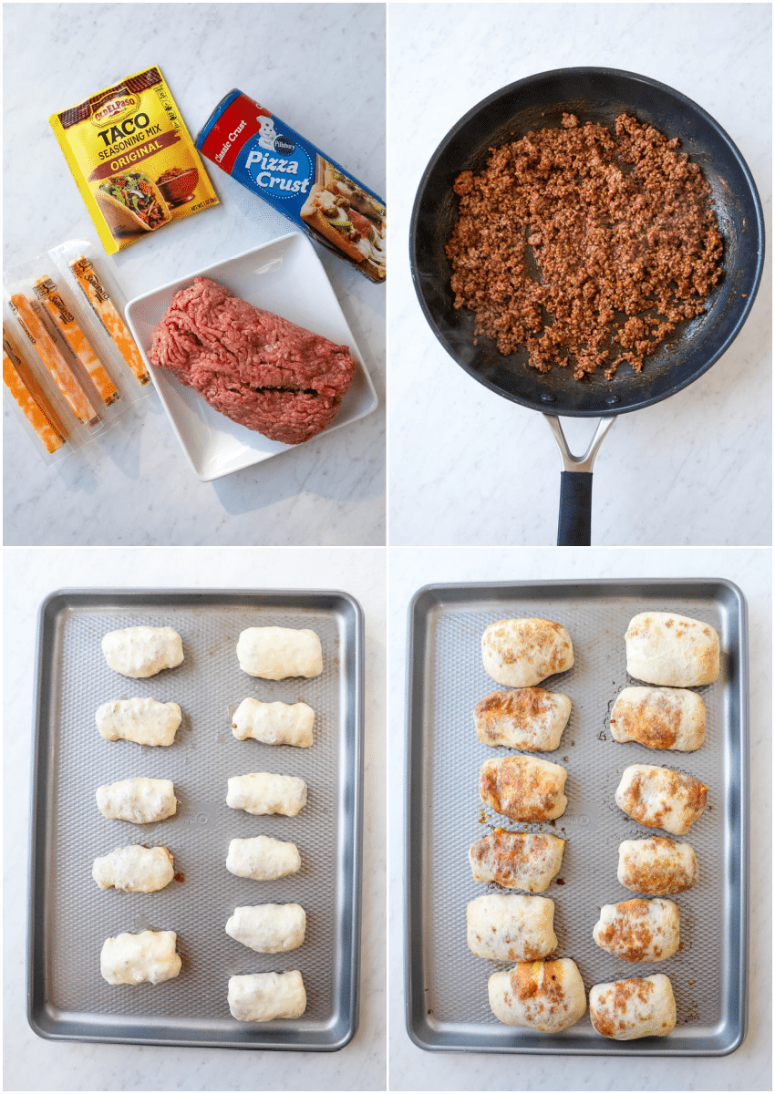 how to make taco sticks with cheese and beef