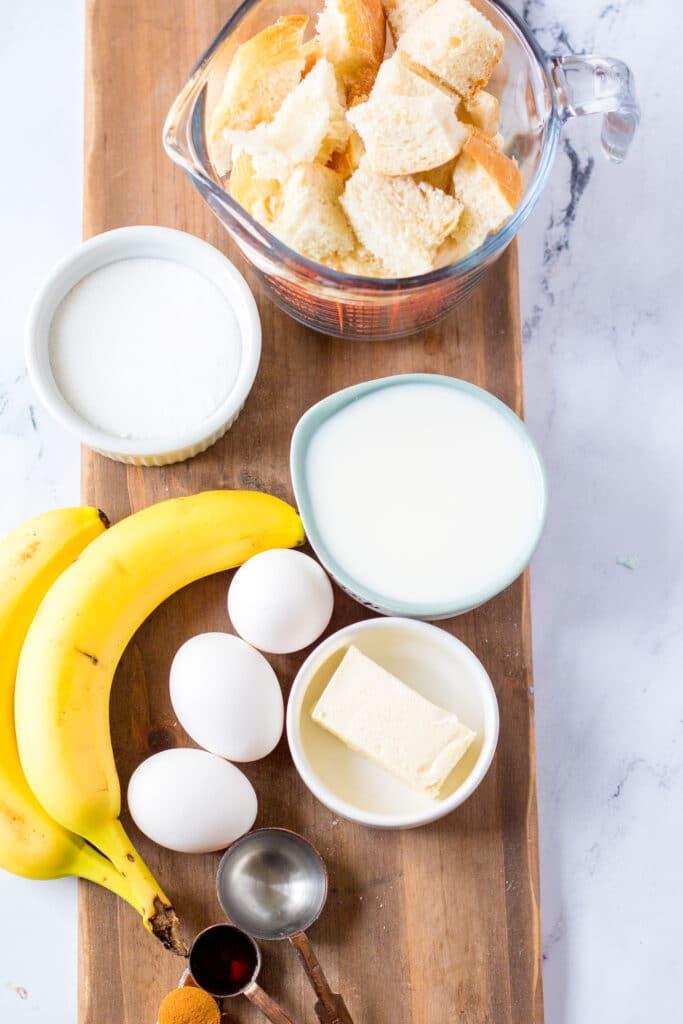 Banana Bread Pudding ingredients