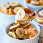 spoonful of banana bread pudding