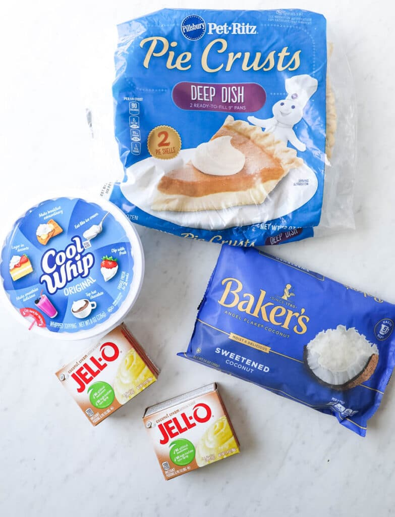 ingredients needed to make cream pie with coconut