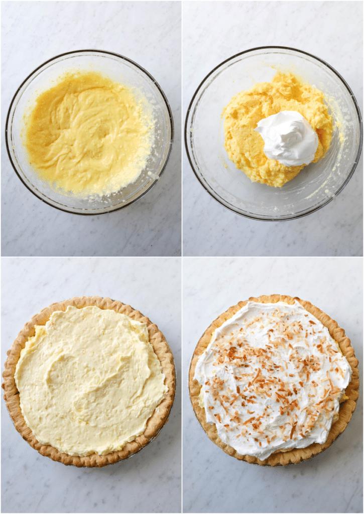 steps to make easy coconut pie