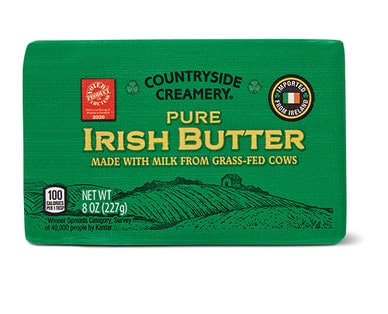 Package of Countryside Creamery Pure Irish Butter from Aldi.