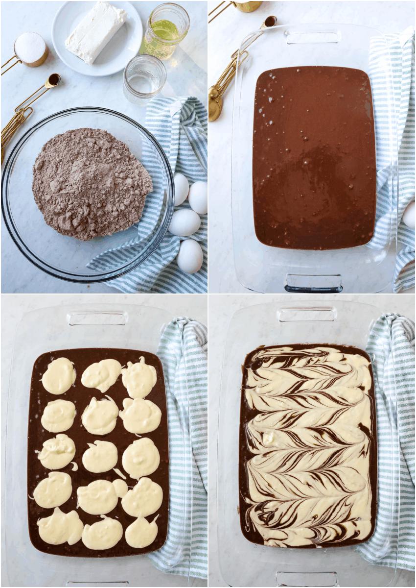 Marble Brownies being made