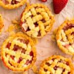 Mini Strawberry Rhubarb Pies