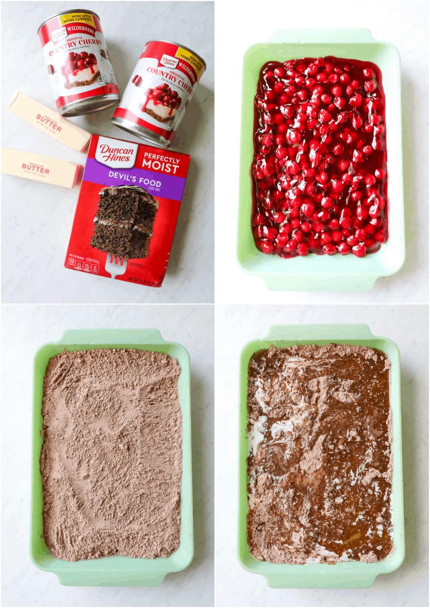 Chocolate Cherry Dump Cake