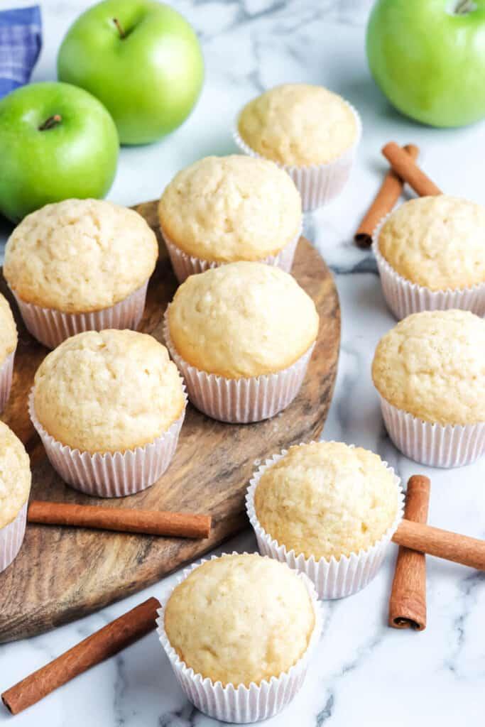 apple cinnamon muffins on a table