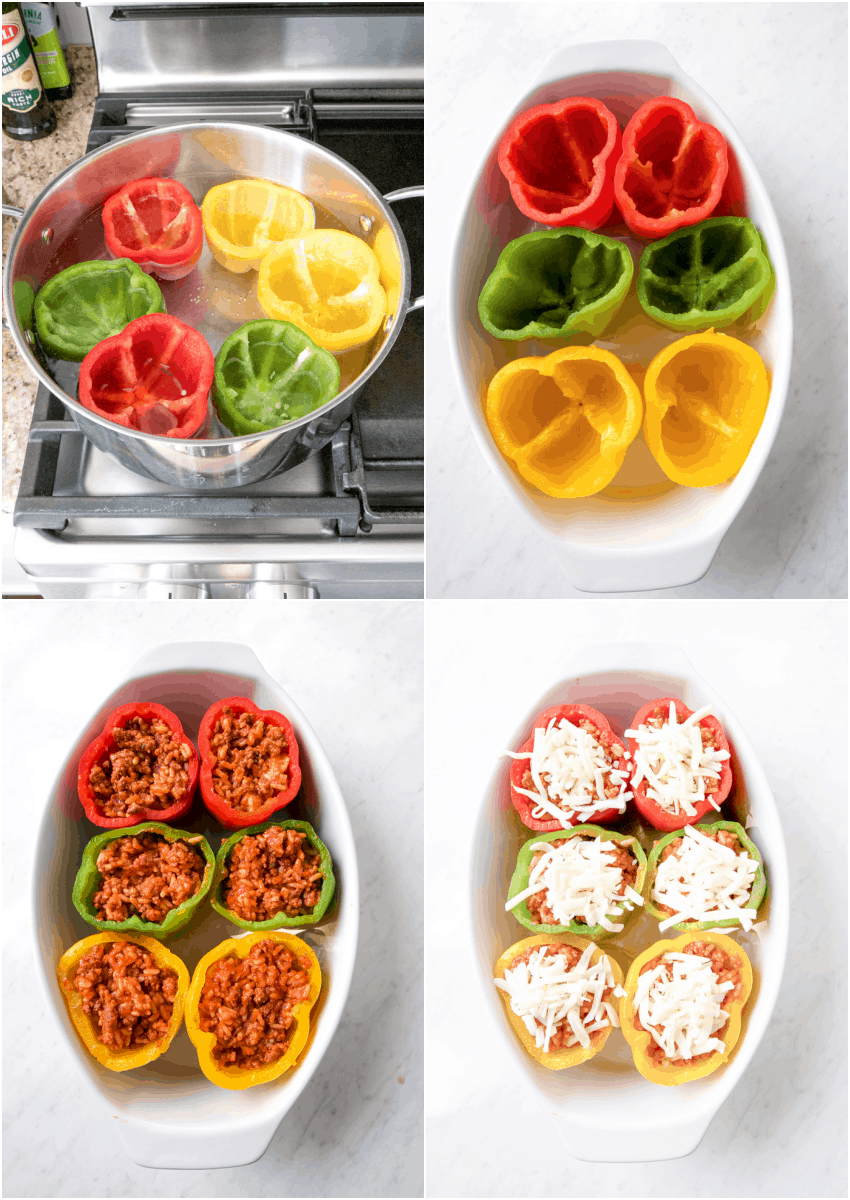 how to make stuffed peppers steps
