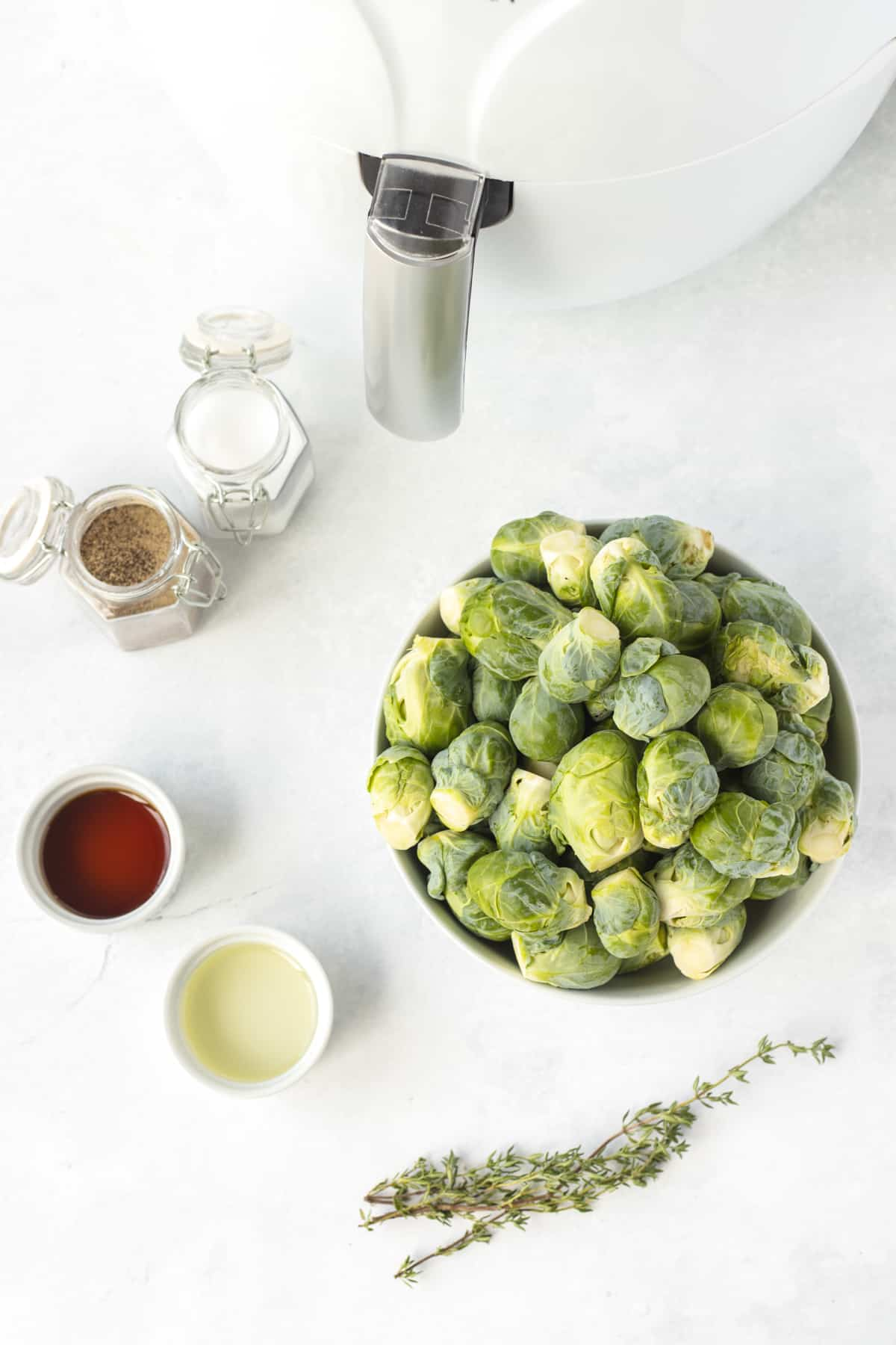 ingredients to make air fryer brussels sprouts